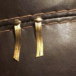 14k Gold Star Chain Earrings